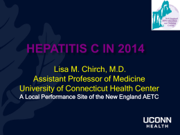Hepatitis C in 2014 - Middlesex Hospital