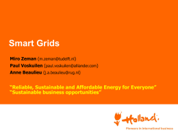 Dutch research on Smart Grids