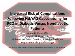 Increased Risk of Complications Following Nd:YAG Capsulotomy for