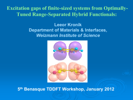 Excitation gaps of finite-sized systems from Optimally