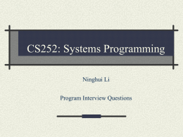CS354: Operating Systems