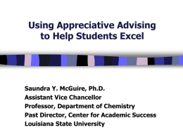 PowerPoint from Dr. McGuire`s advising workshop