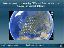Basic Approach to Mapping Different Sources, and the