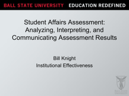 Analyzing, Interpreting, and Communicating Assessment Results