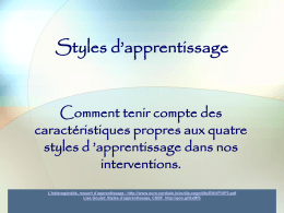 Styles d*apprentissage