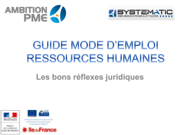 GUIDE MODE D*EMPLOI RESSOURCES HUMAINES