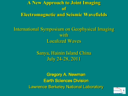 G.A. Newman, New approach to joint geophysical imaging of