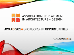 AWA+D - Association for Women in Architecture + Design