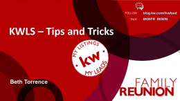 KWLS Tips and Tricks - Real Estate Office Pros
