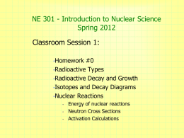 Intro Nuclear Science v1 - radiochem