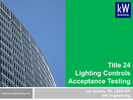 3 4 Certified Lighting Controls Acceptance Test