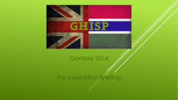 Final Gambia Briefing