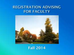 Registration Advising PPT - Humboldt State University