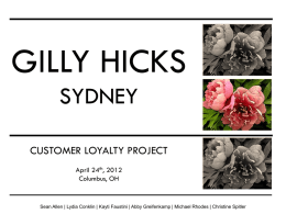 Gilly Hicks Marketing Event PowerPoint