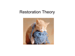 Restoration Theory - PsychologyResources-Y13