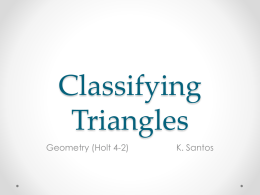 Classifying Triangles (4-2)