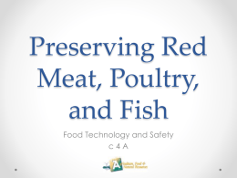 Preserving Red Meat, Poultry, and Fish