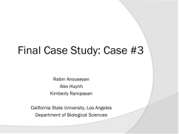 Group 3 final case - Cal State LA