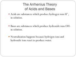 Acids and Bases Day 1 and 2