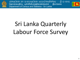 Sri Lanka Quarterly Labour Force Survey