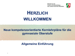 NEU! Powerpointvortrag zur Implementation - Schulsport-NRW