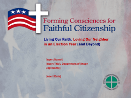 PowerPoint Presentation on Faithful Citizenship