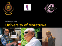 bitinaugv1 - CODL, University of Moratuwa