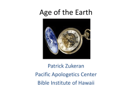 Pat Zukeran - Age of the Earth Powerpoint