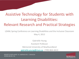 Assistive Technology for Students with Learning