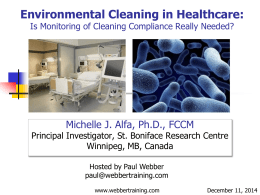Environmental Cleaning: MRSA