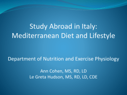 Mediterranean Diet and Lifestyle - University of Missouri Extension