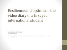 the video diary of a first year international student