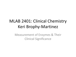 Measurement of Enzymes and Their Clinical Significance