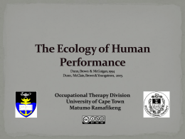 The Ecology of Human Performance - Vula