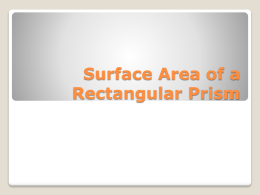 Erny`s Surface Area of a Rectangular Prism - TN