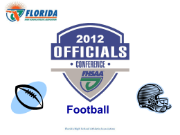 Football slideshow - South Gulf Football Officials Association