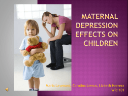 Maternal Depression Final Presentation
