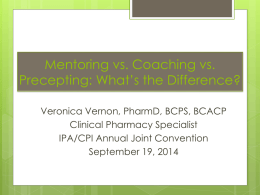 Mentoring vs. Coaching vs. Precepting
