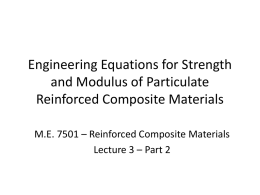 Engineering Equations for Strength and Modulus