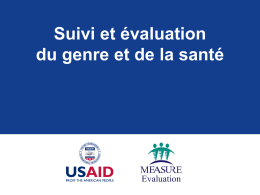 Genre et santé - USAID ASSIST Project