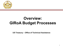GIRoA Budget Brief Overview 12-21-11