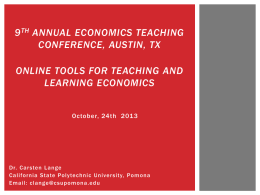 Online Tools for Teaching and Learning Economics_Lange
