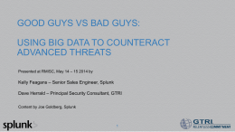 using big data to counteract advanced threats