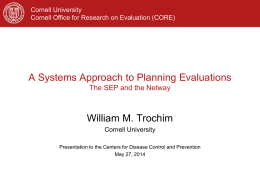 A Systems Approach to Planning Evaluations