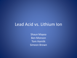 Lead Acid vs lithium ion