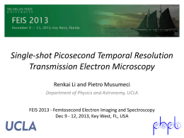 Single-shot Picosecond Temporal Resolution Transmission Electron