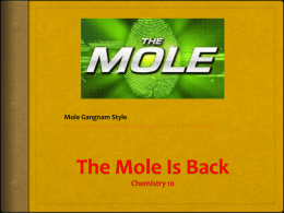 PPT The MOLE is Back