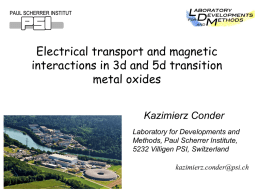 Electrical Transport and Magnetic Interactions in 3d and 5d