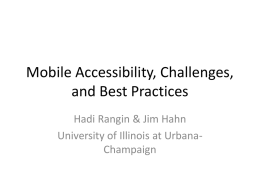 mobile accessib es and best practices - Ideals