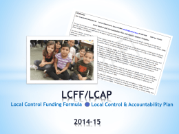 LCFF LCAP Presentation 06 02 14 - Jurupa Unified School District